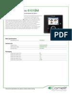 Comelit 6101BM Data Sheet