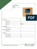 Comelit 6101J Data Sheet