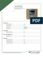 Comelit 6101G Data Sheet