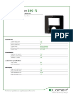 Comelit 6101N Data Sheet