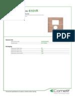 Comelit 6101R Data Sheet