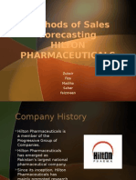 Methods of Sales Forecasting HILTON PHARMACEUTICALS
