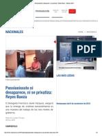 05 - 11 - 2015 Pensionissste Ni Desaparece, Ni Se Privatiza_ Reyes Baeza - Noticias MVS