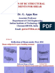 Design of RC Structural Elements for Shear
