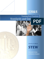 Training Standards and Guidelines