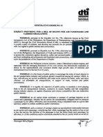 DOTC-DTI Joint Circular No. 1 (s.2012) Re Air Passengers Bill of Rights