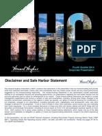 HHC Q4 2014 Corporate Presentation v10