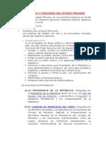 Estructura y Funciones Del Estado Peruano
