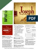 Joseph 6 Gen 37_28 Handout 110815