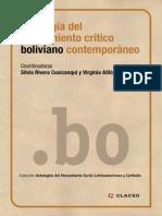 (2015) RIVERA CUSICANQUI Silvia y Virginia AYLLON (Coord) - Antologia Del Pensamiento Crítico Boliviano Contemporáneo