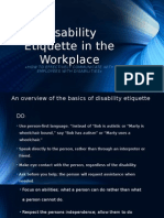 Disability Etiquette in the Workplace