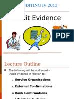2013 Lecture Slides - Audit Evidence