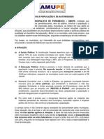carta dos Prefeitos à População e a Sociedade