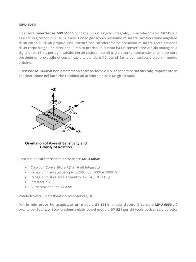 Schema Elettrico Max 250 : Mpu 6050