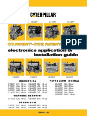 Cat c Acert Family A_i_guide_lebh4623 | Fuel Injection