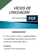 Os Vícios de Linguagem