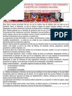 LA CÉLULA CENTRO Y MOTOR DEL FUNCIONAMIENTO Y VIDA COMUNISTA. EN CAMINO A NUESTRO XXV CONGRESO NACIONAL.
