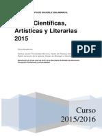PROYECTO RUTAS CIENTÍFICAS ARTÍSTICAS Y LITERARIAS 2015