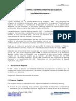 Programa de Certificacion Inspector en Soldadura y Educador CWI-CWE 2015