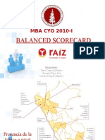 Balanced Scorecard Raiz