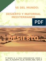 BIOMAS DEL MUNDO Desierto y Matorral Mediterraneo