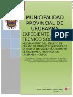 Avance Componente Capacitacion Parques y Jardines Urubamba