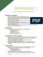 Checkliste Business Software - Was man bei der Auswahl einer Software bedenken sollte