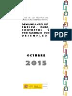 Datos de Paro Registrado Octubre 2015