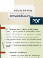 Gestão de Serviços - Aula 2 - 2015-1 (1)