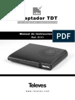 Manual de usuario Televes TDT 5111 Receptor digital terrestre