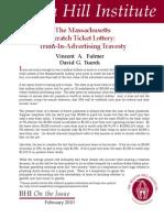 The Massachusetts Scratch Card Lottery