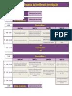 Agenda 3er Encuentro de Semilleros de Investigación
