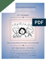 Carols Choir Poster