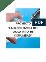 Proyecto Del Agua Potable Para Mi Comunidad