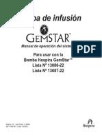 Bombas de Infusion - GemStar - Manual de Usuario