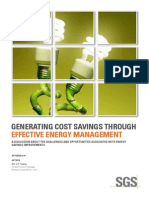 Generating Cost Savings Through Effective Energy Management