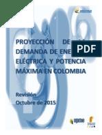 Proyeccion Demanda Energia Electrica Octubre2015