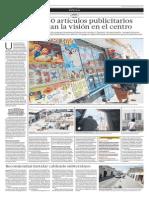 Más de 860 artículos publicitarios contaminan la visión en el centro