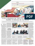 A los colegiales de Tisco les averguenza hablar el idioma de los incas