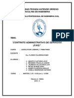 Contrato Administrativo de Servicios (Cas)