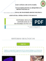 Sistemas Biológicos en La Obtención de Productos Biofarmacéuticos y Enzimas