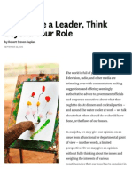 To Become a Leader, Think Beyond Your Role