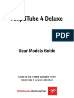 AmpliTube 4 Deluxe Gear Models