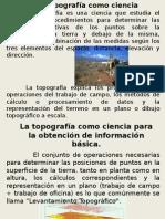 La topografía como ciencia (Unidad 1).pptx