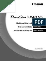 PowerShot SX40 HS GettingStarted MultiLanguage ES PT v1.0