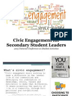 civic engagement for secondary student leaders