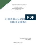 Democracia y Soberania Informe