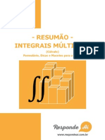 Resumao de Integrais Multiplas Do Responde Ai