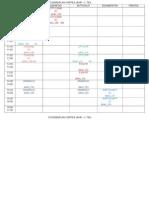 Stundenplan Viertes Jahr 2. Teil