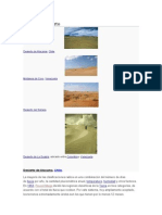 Tipos de Desierto